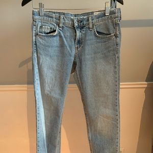 Rag & bone light wash skinny jeans